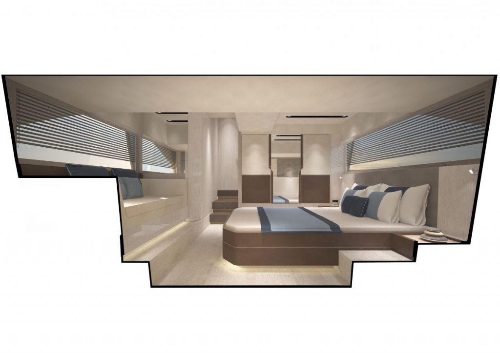 Targa 43 Open Interior Mid-Master light